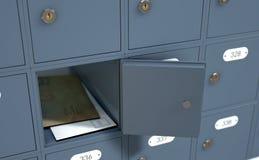 Diese Postkästen werden mit drei Digits nummeriert und alle sie werden geschlossen vektor abbildung