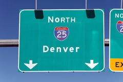 Diese Weise nach Denver Stockfotos