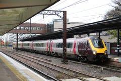 Diesel- åtskillig enhet för resande på Wakefield Westgate Royaltyfri Bild