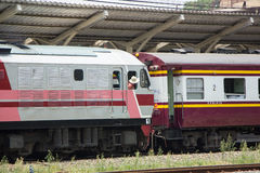 Diesel κινητήριο αριθ. Hitachi 4512 τραίνο αριθ. 14 Στοκ Φωτογραφίες