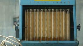 Diesel ρύθμισης αντλιών καυσίμων απόθεμα βίντεο