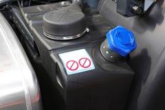 Diesel- avgasrörvätska Fotografering för Bildbyråer