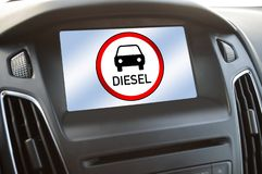 Diesel ban and diesel manupilation in germany royalty free stock images