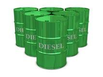 Diesel barrels Royalty Free Stock Images