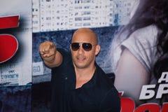 Diesel de Vin do ator em Moscovo - jejua a premier cinco Fotografia de Stock