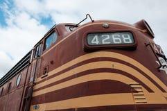 Diesel die van de V.S. locomotief bij een museum in New England, de V.S. wordt gezien royalty-vrije stock afbeeldingen