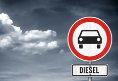 Diesel driving ban Stock Images