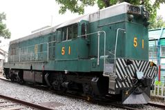 Diesel Electric Engine Train No.51 Stock Images