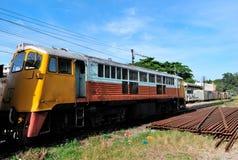 The diesel electric locomotive Stock Photo