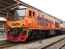 Diesel electric locomotive Alstom in Bangkok stock photography