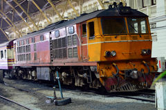 The Diesel Electric Locomotives of Thailand Stock Photo