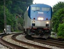 Diesel Electric Passenger Train Locomotive stock photo
