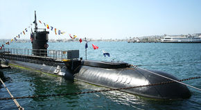 A Diesel-electric Submarine, the USS Dolphin Royalty Free Stock Images