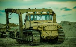 Diesel-electric tractor Royalty Free Stock Photo