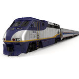 Diesel Electric Train on White 3D Illustration Stock Images