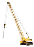 Diesel electric yellow crawler crane isolated Stock Photography