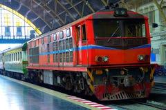 De diesel Elektrische Locomotieven van Thailand Royalty-vrije Stock Foto