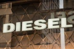 Diesel embleem Stock Fotografie