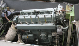 Diesel engine. Close up of a diesel ship engine Royalty Free Stock Photo