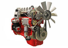 Diesel engine. Close up shot of turbo charged diesel engine royalty free stock photos