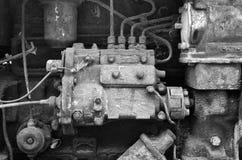 Diesel Engine. Detail of old diesel engine Stock Photography