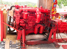 Diesel engine. S used in heavy goods transport services Royalty Free Stock Photos