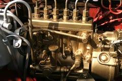Diesel Engine. Four stroke engine with Diesel engine show Part of machine Stock Photos