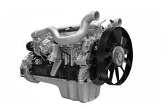 Diesel engine. Grey diesel engine isolated on white background royalty free stock photography