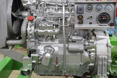 Diesel engine. Powerful diesel engine for agricultural works Stock Photo
