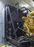 Diesel engine radiator. Royalty Free Stock Photo