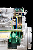 Diesel engine section Stock Image