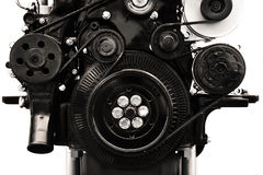 Diesel engine transmission. Car diesel engine transmission in black and white Royalty Free Stock Photos