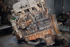 Diesel engines have long been active. Royalty Free Stock Photography