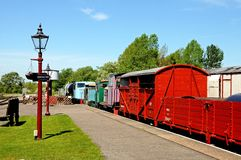 Diesel engines and wagons, Brownhills West. Stock Image