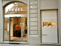 Diesel fashion shop in Italy royalty free stock photos