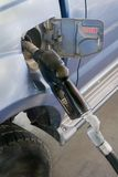 Diesel filling. Filling up a vehicle with diesel fuel royalty free stock photography