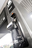 Diesel. Fuel dispenser at the gas station Stock Images