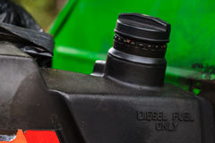 Diesel fuel only marked on fuel tank of a car royalty free stock image