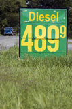 Diesel fuel price. Royalty Free Stock Photos