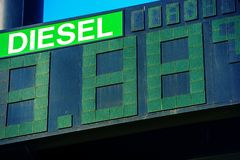 Diesel Fuel Price Stock Images