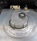 Diesel fuel tank cap Royalty Free Stock Photos