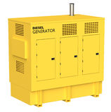 Diesel Generator. 3D rendering of a diesel electric generator Royalty Free Stock Images