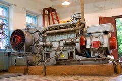 Diesel-generator reeks. stock afbeeldingen