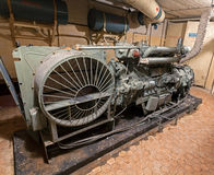 Diesel generator in Soviet nuclear weapon storage. Royalty Free Stock Photos