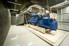 Diesel generator. Unit in generator room royalty free stock photos