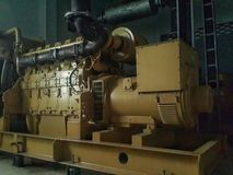 Diesel Generator. The generator used for backup office and home 24 hours Stock Images