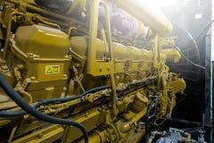 Diesel- generatorenhet arkivbilder