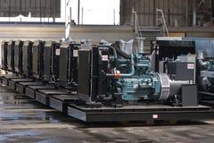 Diesel- generatorer arkivbilder