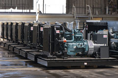 Diesel Generators. Big diesel generators at the plant Stock Images