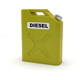 Diesel jerrycan. Yellow diesel jerrycan on white background Royalty Free Stock Photo